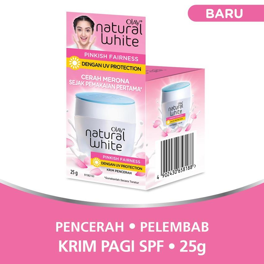 Olay Krim Pencerah - Natural White Pinkish Fairness UV Protection 25g