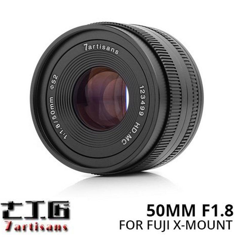 Lensa 7ARTISANS 50MM F1.8 FOR Mirrorless FUJIFILM X Mount Series