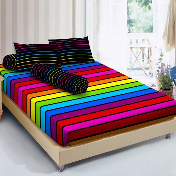 Isthana Collection Sprei Kintakun D'luxe 160x200 Rainbow (Buat Kasur No.