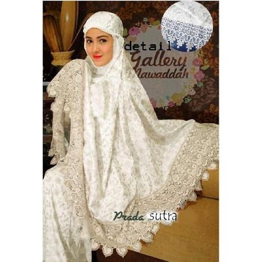 Terbaru !!! Rn- Rdr Mukena Sutra Dubai Prada Mekena Dewasa Fashion Muslim Murah ()