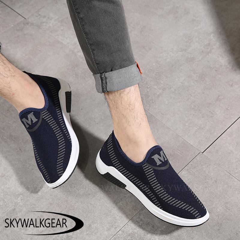 Skywalkgear Sepatu Sneakers Sepatu Pria Maskulin - M style - sepatu slip on pria  sepatu kasual d1f4d6f01a