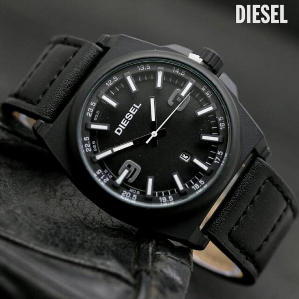 jam tangan pria / jam tangan pria original / jam tangan pria murah, jam tangan pria terbaru, jam tangan pria anti air / jam tangan pria 2018 / jam tangan pria terbaik / Jam Tangan Pria / Cowok Murah Diesel Torez Leather Black White DISKON MURAH!!!