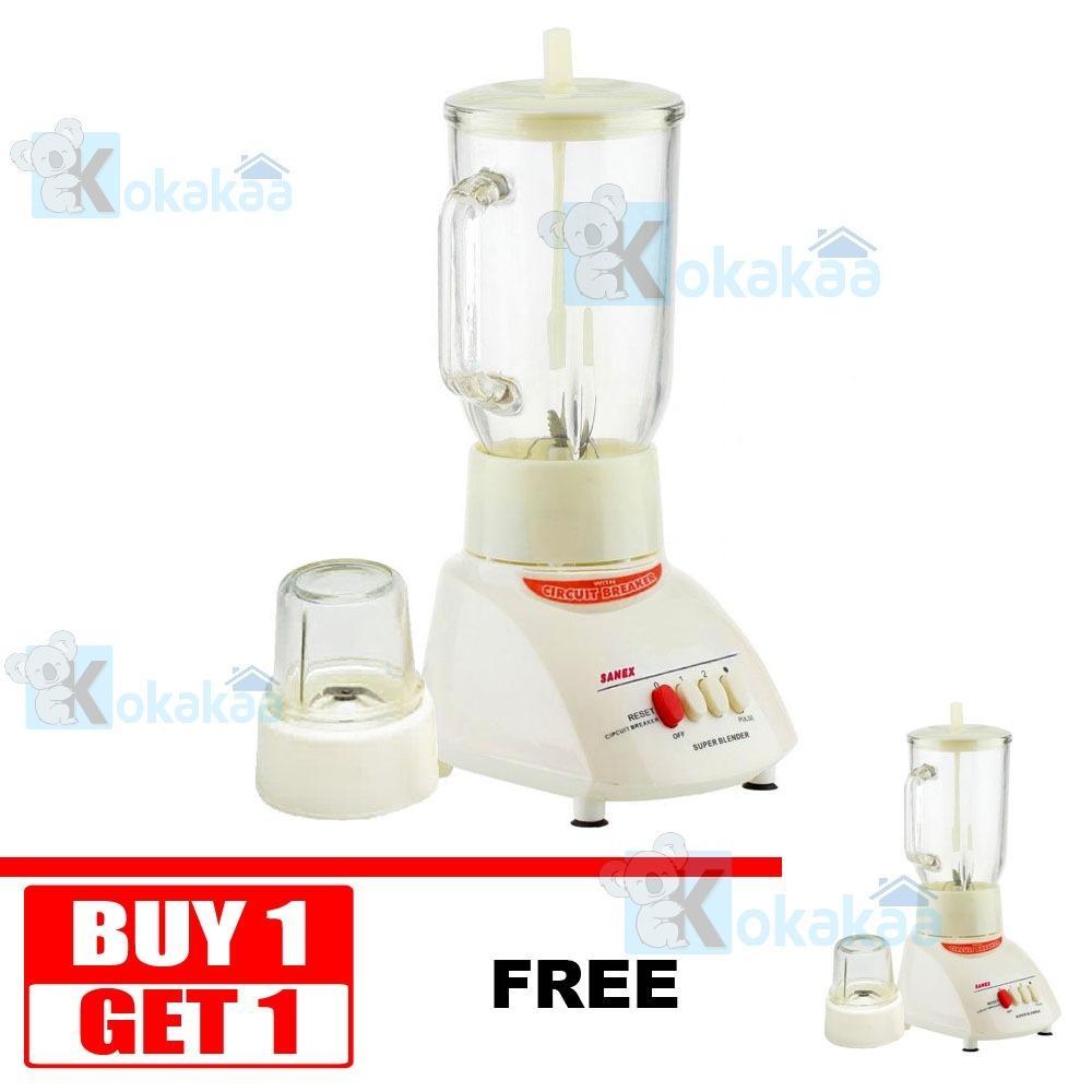 Buy 1 Get 1 Sanex Blender Glass Jar MT-X Bahan Kaca Low Watt with Grinder
