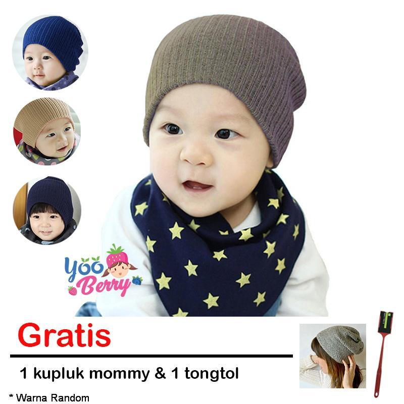 YooBerry Topi Kupluk Rajut Bayi Korea Hyun Ki Gratis Topi & Tongtol