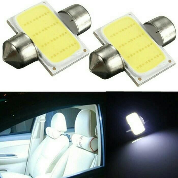 Lampu led plafon mobil kabin interior 31mm plasma cob super terang