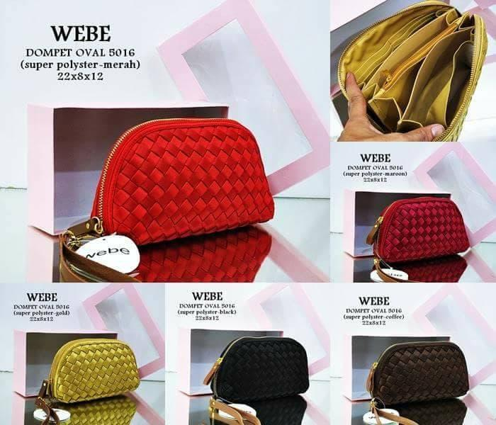 Dompet Webe Oval 1 resleting Pouch / Dompet Wanita bbo / Android Terkini