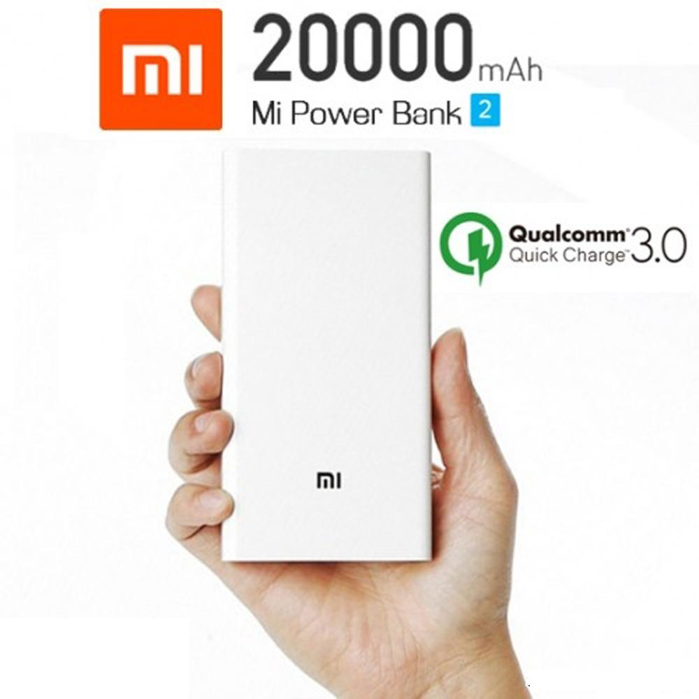 Xiaomi Mi Power Bank 20.000mAh 2C Two-way Quick Charge 3.0 Powerbank New White