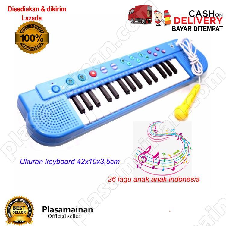 AA Toys Techno Karoke Keyboard T-2768 WARNA ACAK - Mainan Piano Karoke Lagu Indonesia / WARNA RANDOM