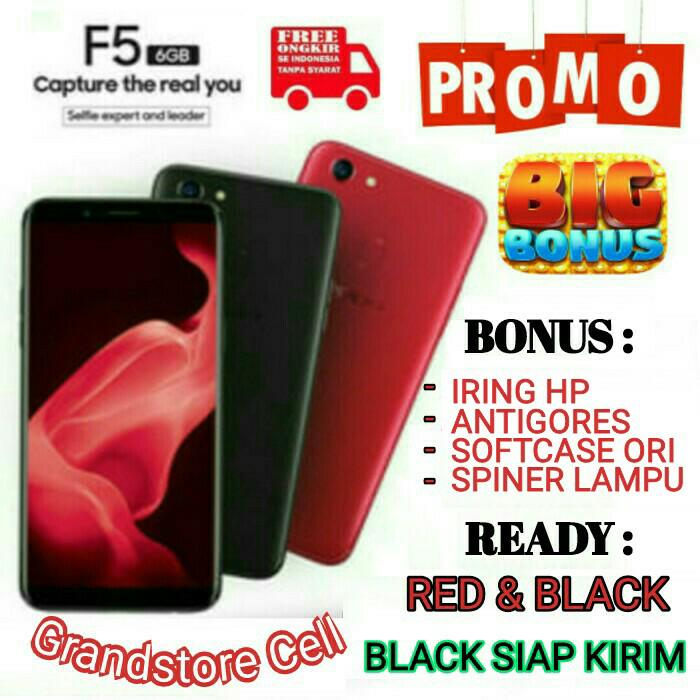 OPPO F5 RAM 6/64 GARANSI RESMI OPPO INDONESIA           / handphone / hp / hp murah / xiaomi / samsung / oppo / iphone / vivo / asus / tablet / redmi / asus zenfone / lenovo / sony / tam / garansi / garansi tam