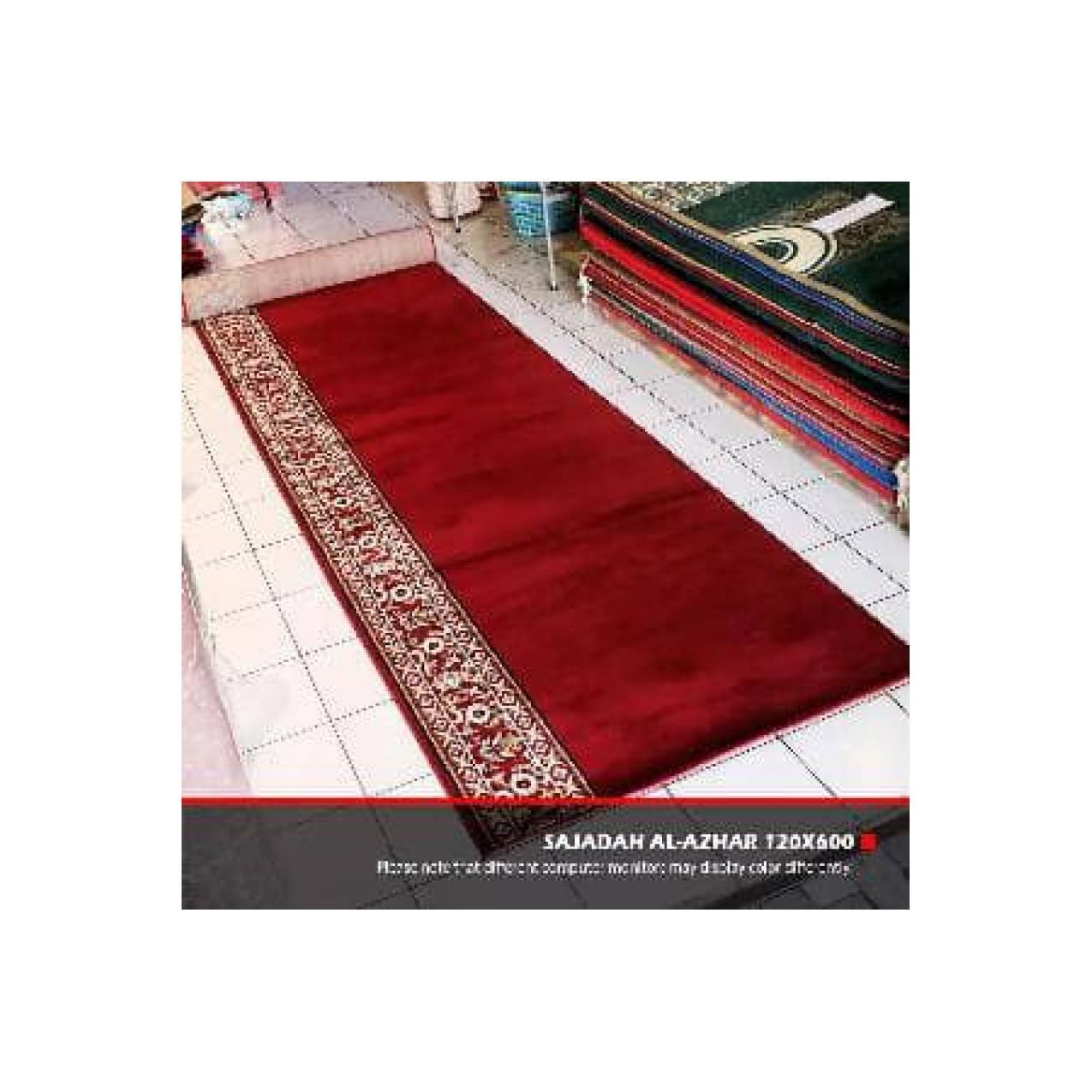 Sajadah Al Azhar Warna Merah Bahan Wool Kualitas Import Cocok Untuk