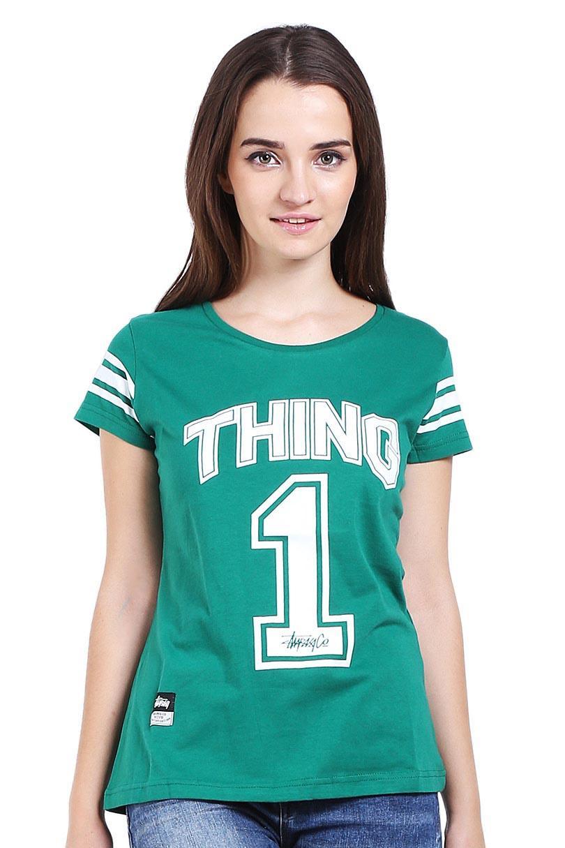 Sharks Fashion Pakaian T-Shirt Wanita Number Series T-Shirt Green