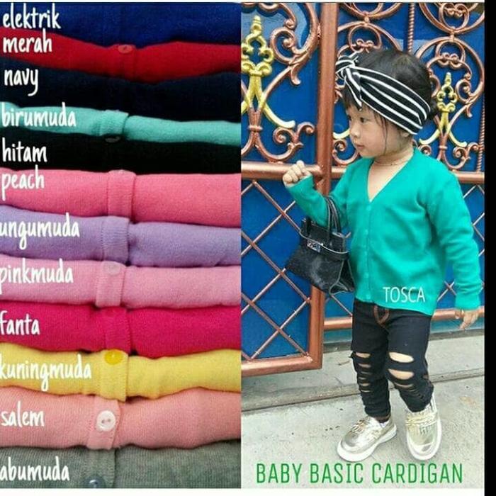 Atasan Wanita - Cardigan - Basic Cardy - Spandek Knite - Coklat. Source · Baby