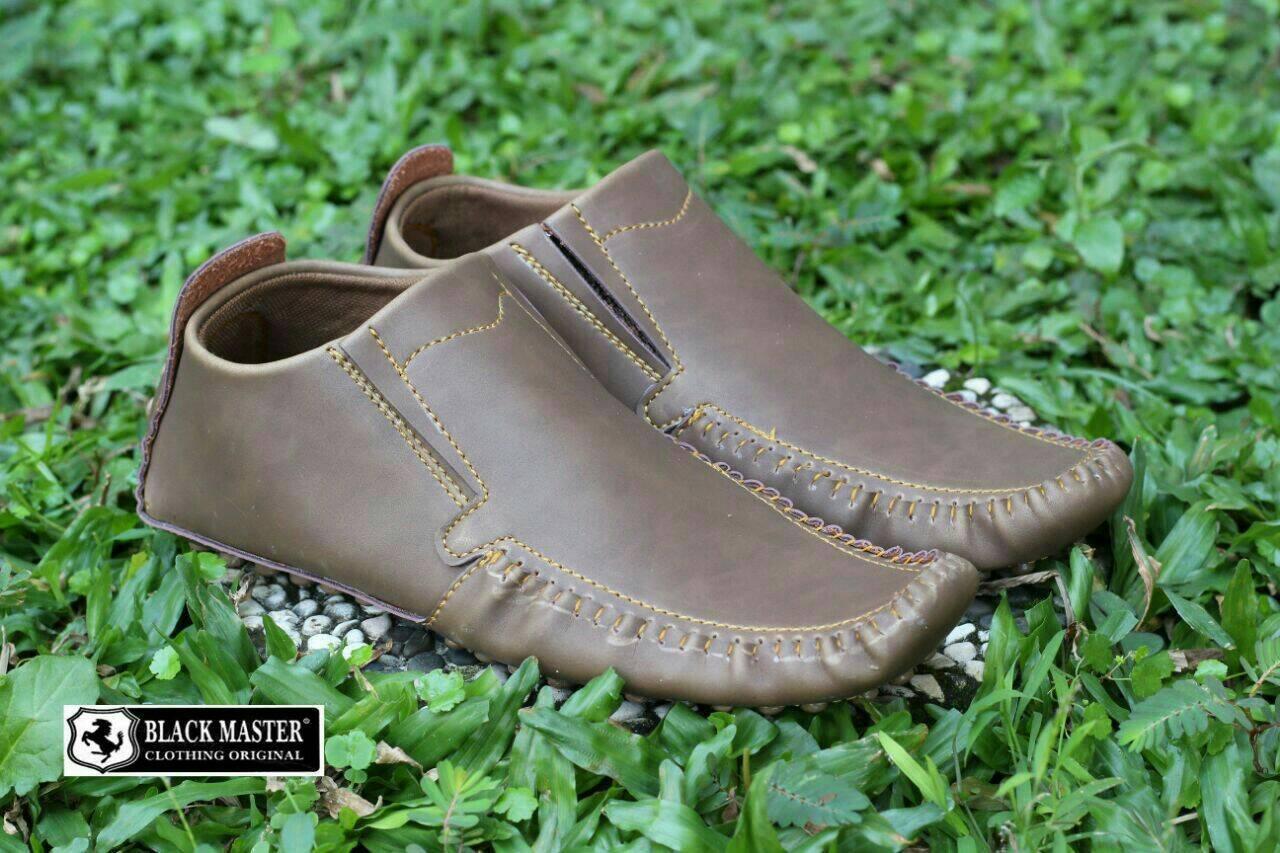 sepatu casual slip on formal loafer pria black master original - sepatu  kulit slop pria 964939d358