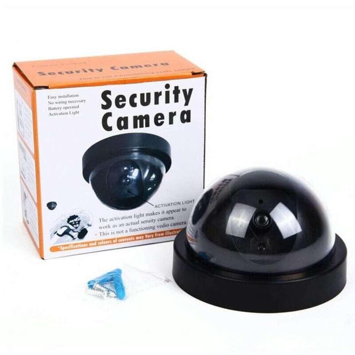 Eigia CCTV Dummy Lampu LED Kedip Fake Security Camera Anti Maling CCTV Palsu Replika Mirip Asli
