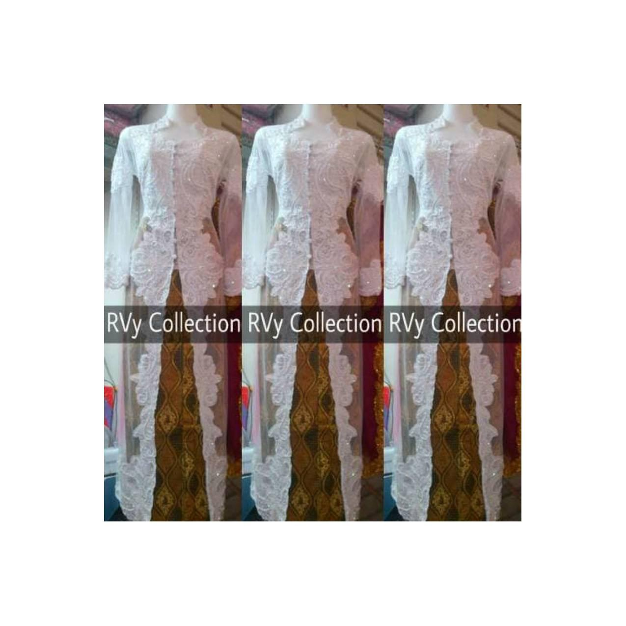 BAJU Abaya Set Kebaya Abaya Akad Nikah Muslim RVy Collection