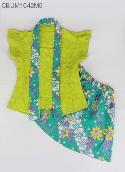 Mila Style - Baju Setelan Dress Kutubaru Pendek Motif Bunga Size 6 CBUM1642 - Multicolor
