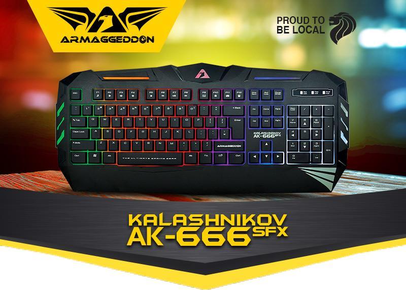Armaggeddon Kalashnikov Gaming Keyboard AK-666SFX