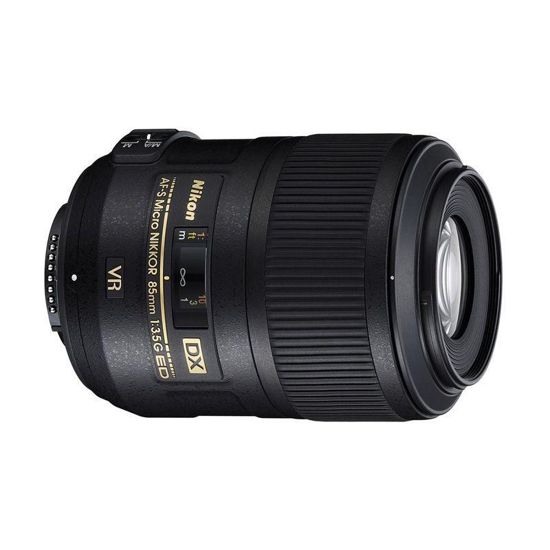 Nikon AF-S 85mm f/3.5G ED VR DX Micro - Hitam