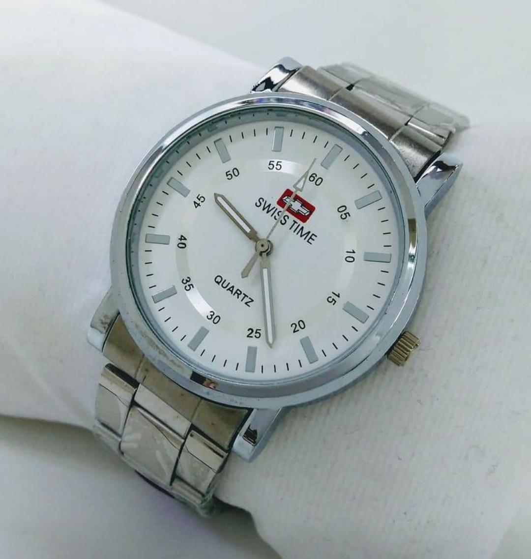 Swiss Army - Jam Tangan Fashion Pria - Tali Rantai Stainless Steel - Limited Edition