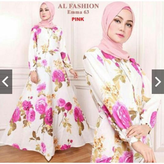 Rp 156.700 TotallyGreatShop Fashion Busana Kondangan Muslimah Muslim Wanita Motif Bunga Cantik - Gamis Pesta Cantik Katun Jumbo Busui ...