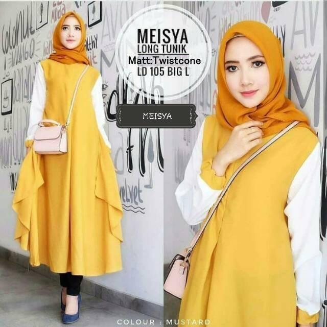 ... Baju Gamis Wanita Muslimah Terbaru. Source · GKS Fashion Long Tunik  Meisya Varian Warna   Dress Muslimah   Hijab Muslim   Gamis Syari 215fdfe3df