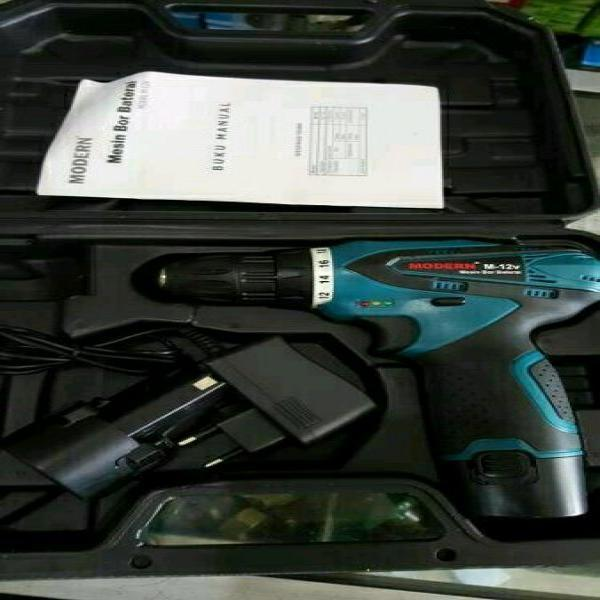 Mesin Bor Modern M 12 V Portable Baterai Tanpa Kabel Cordless Drill Driver Bor Alat Pengebor dan Pelubang Murah Kuat Bor Kayu Besi Sekrup Obeng