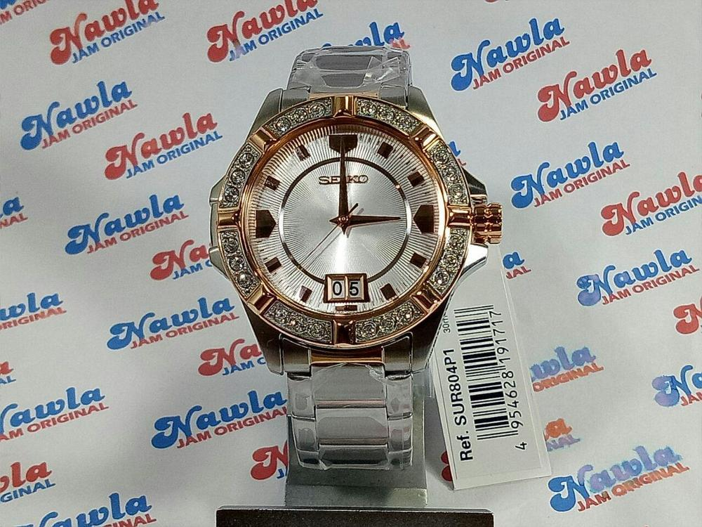Seiko Ladies SUR804P1 Quartz Swarovski Rose Gold | Jam Waita SUR 804