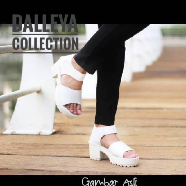 MORYMONY - Dalleya sepatu sandal heel boot doctmart platform simple casual