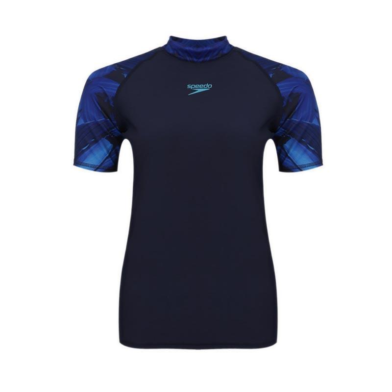 Speedo - Rash Guards Lengan Pendek Pria - Navy By Planet Sports.