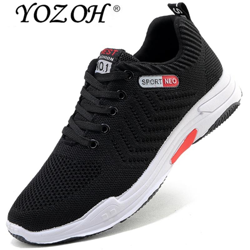 Yozoh Laki-laki Kecepatan Bintang Bantalan Sepatu Lari Tekstil Bernapas  Sneakers Ringan 48e9b71195