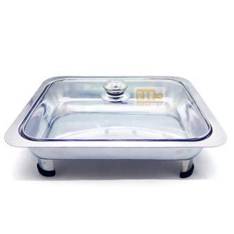 Harga preferensial 555 SA Tempat Makan Prasmanan Tutup Kaca ukuran Jumbo - Silver beli sekarang - Hanya Rp36.722