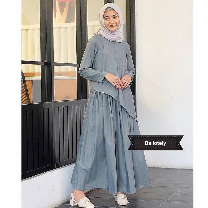 Baju Murah/Jual Dress Murah/Terbaru/MIURI SET GREY VG01