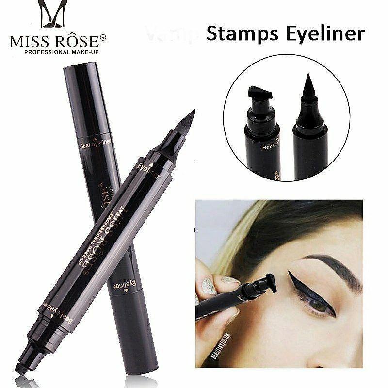 JS Miss Rose New Eyeliner Cat Stamp Liquid Eye Pencil Waterproof Black Eye Liner Double-