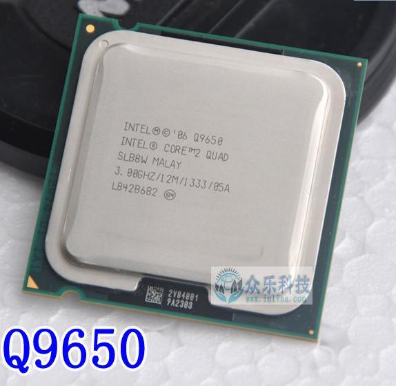 lntel Core 2 Duo Q9650 CPU Quad-Core/3.0GHz/12MB L2/45nm/Socket 775/SLB8W/95W/FSB 133Hz/