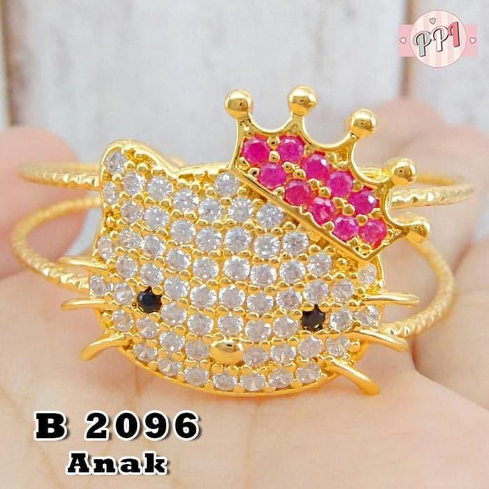 Gelang cartier Hello Kitty Bermahkota B 2096 Anak d = 4,1cm