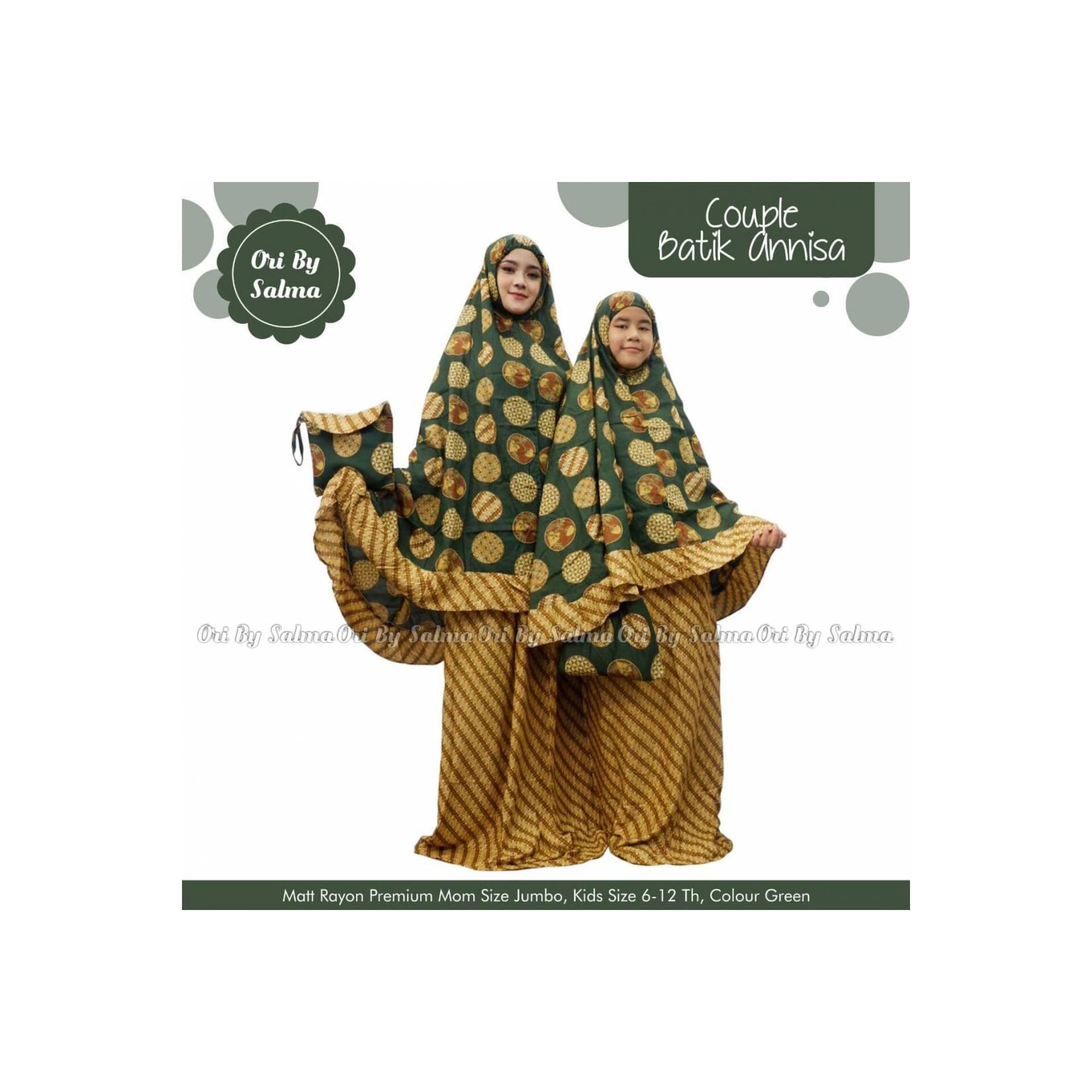 Mukena Couple Batik Annisa/ Mukena Kembar Anak dan Ibu
