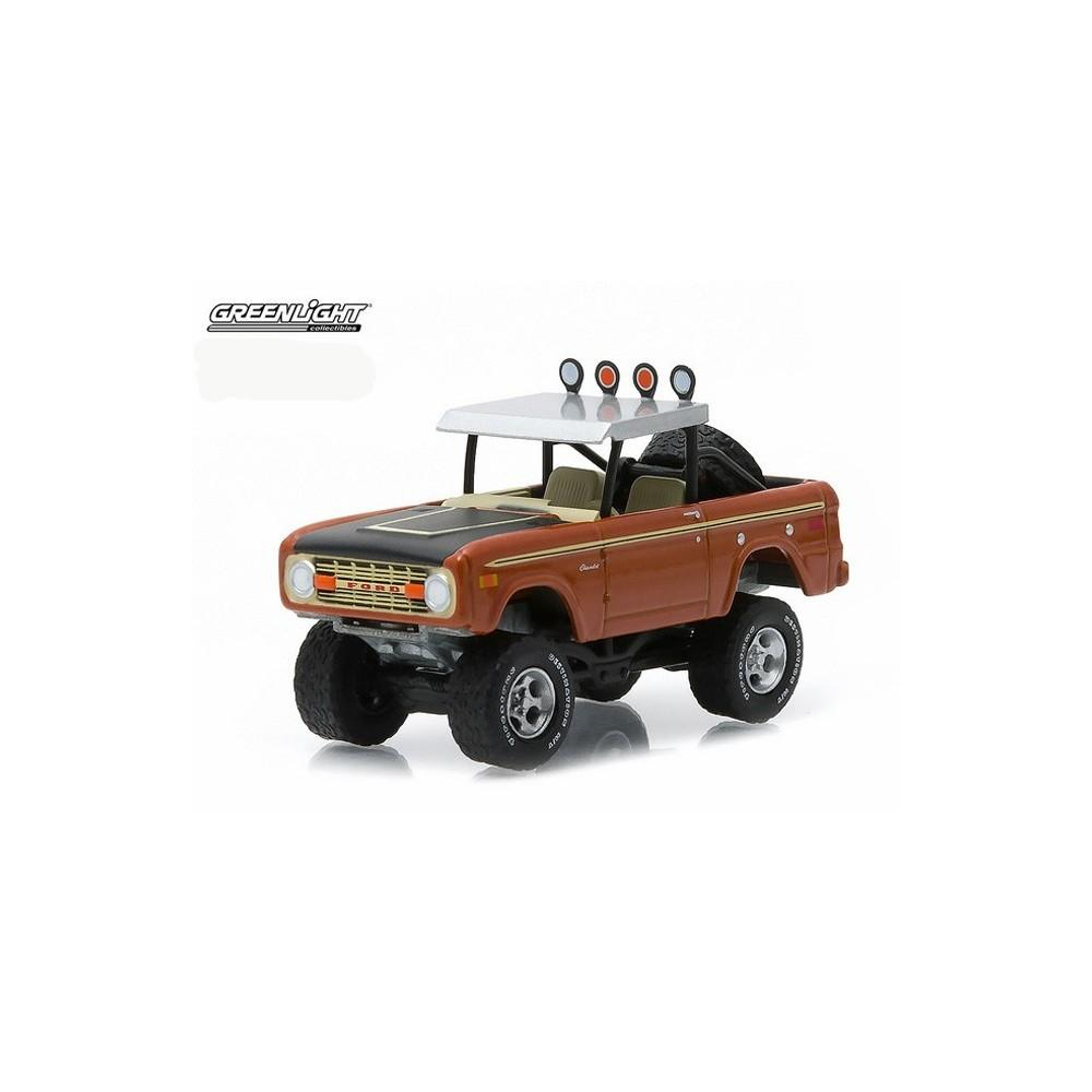 Diecast Greenlight Collectibles 1972 Ford Bronco Orange