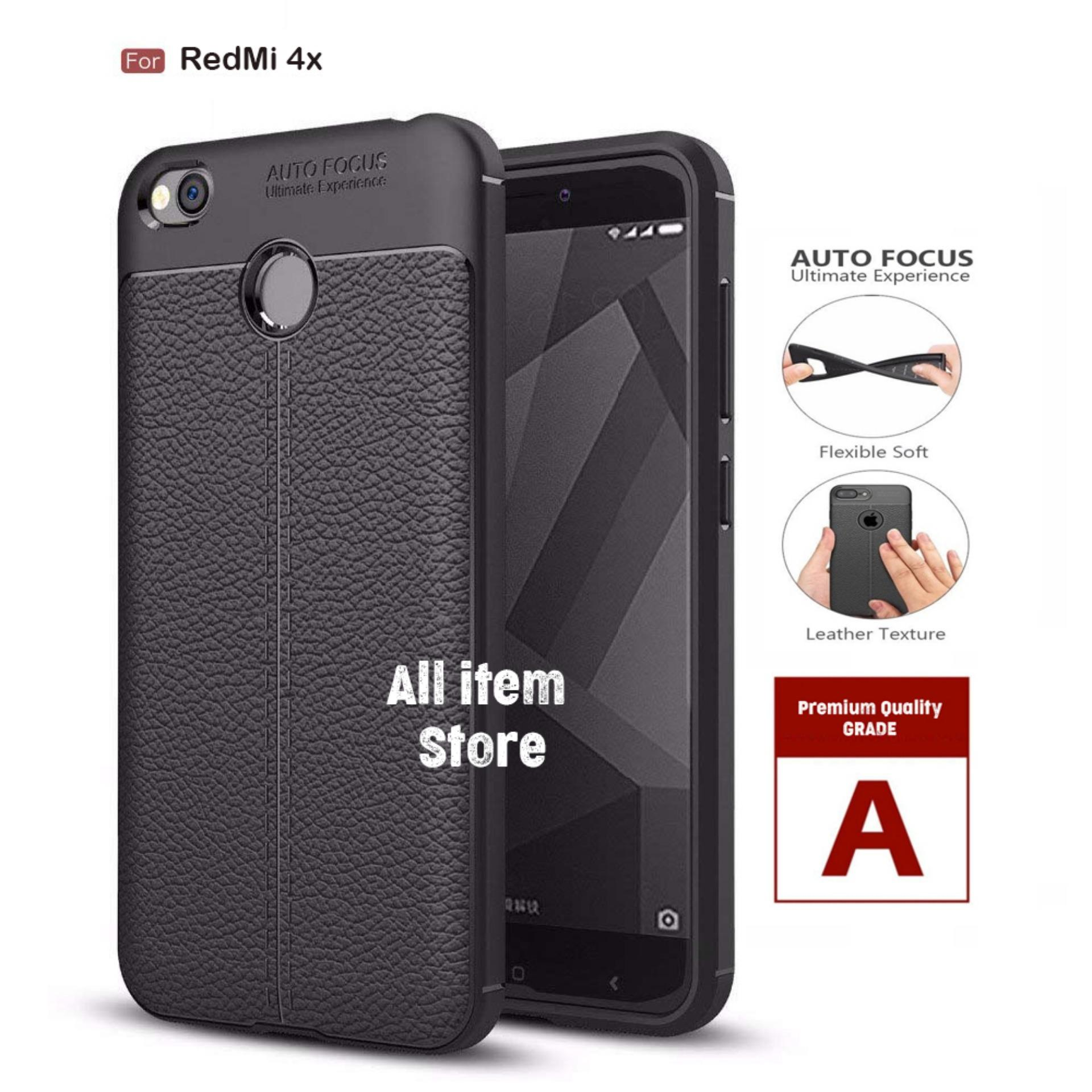 Case Auto Focus Xiaomi Redmi 4X Leather Autofocus Ultimate - Black
