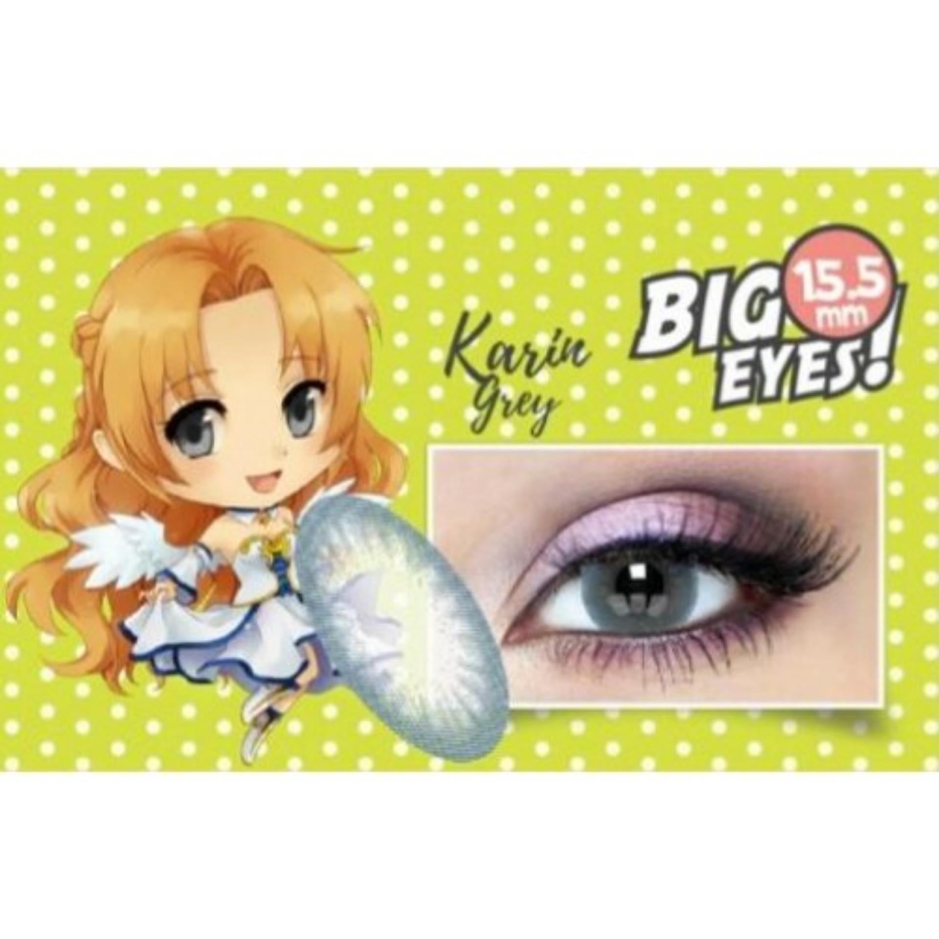 Softlens X2 SHIN MANGA Big Eyes - KARIN GREY + FREE LENSCASE