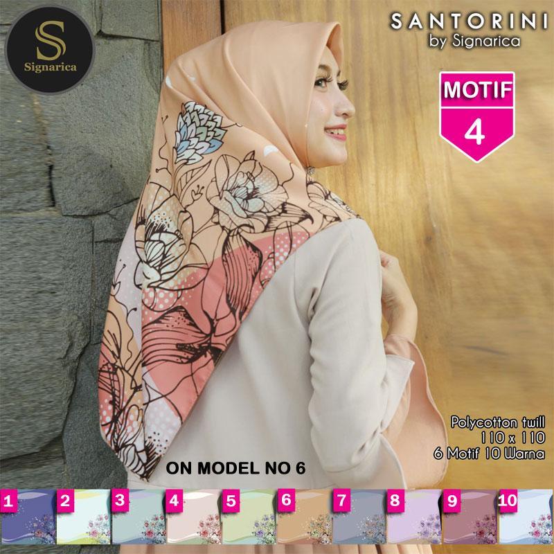 Hijab Segi Empat SANTORINI 4 By SIGNARICA - Jilbab kerudung MOTIF