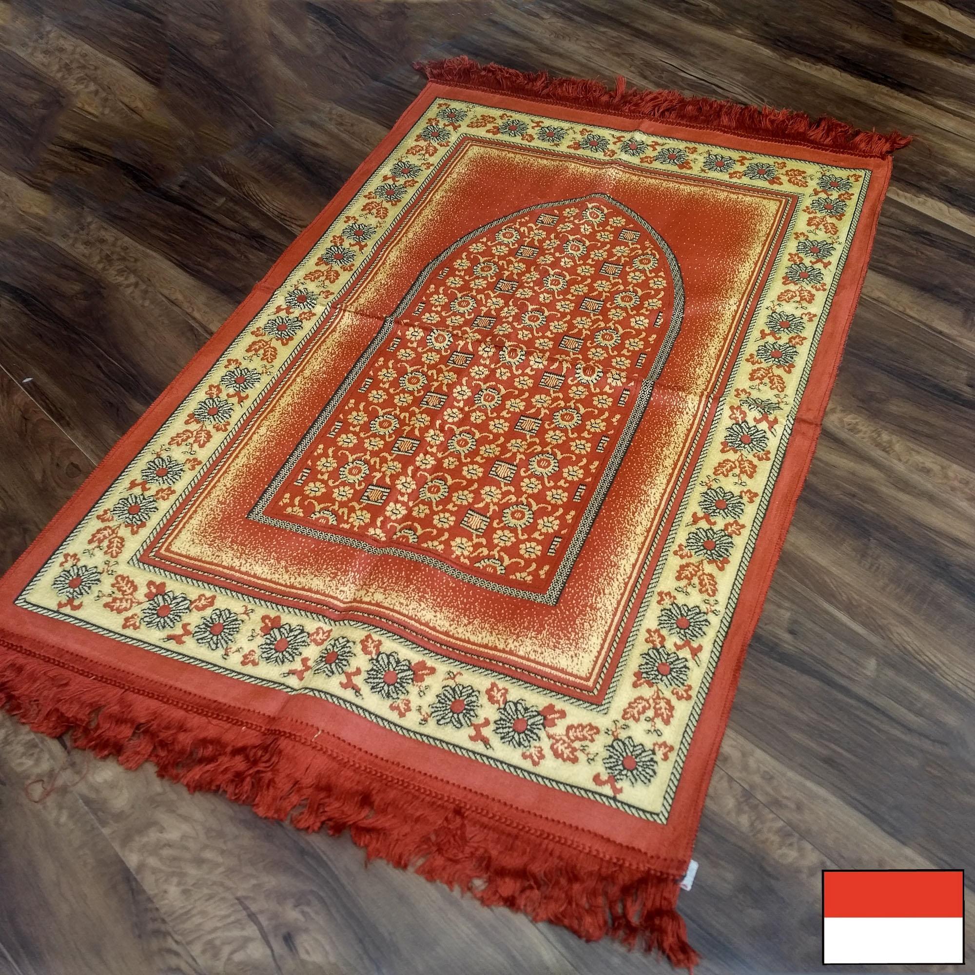 Al-Shiraz - Sajadah Turki  Beludru / Bulu 68 cm x 110 cm - Orange 01ORG - NMs