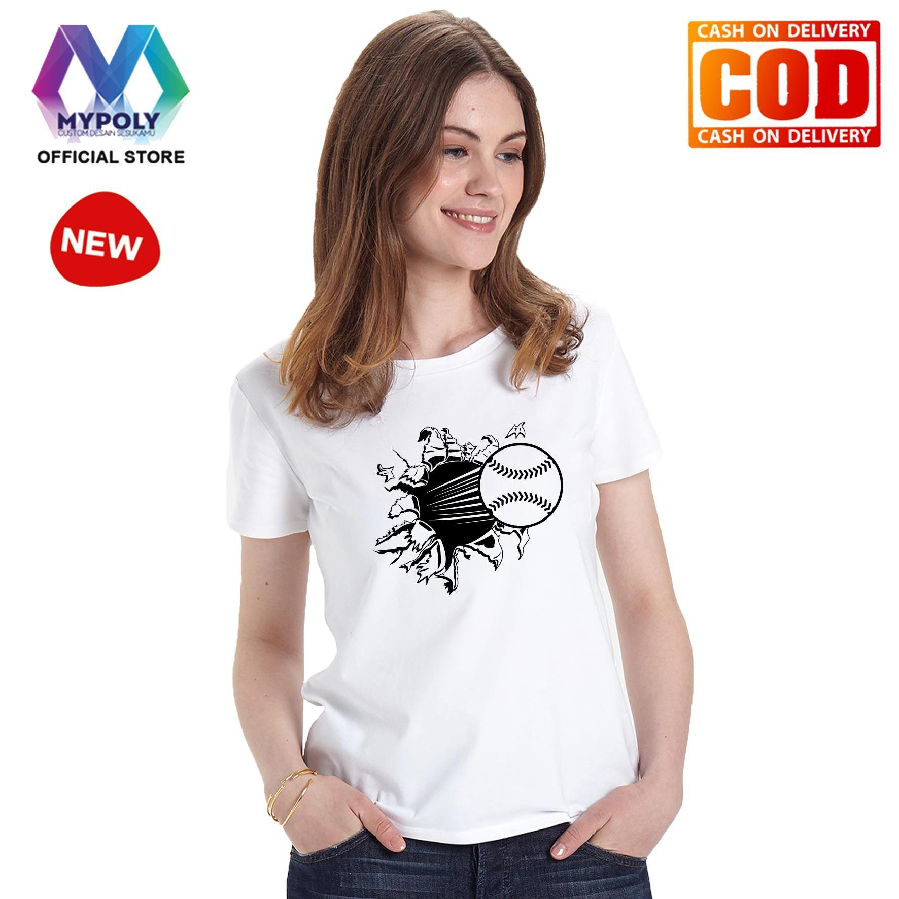 Kaos Premium Mypoly Wanita Perempuan WP / Baju Couple Family Keluarga / Tshirt distro Anak Wanita / Fashion atasan / Kaos Wanita Dewasa Baseball