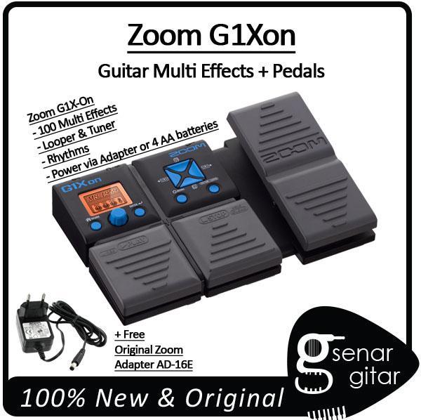 Original Zoom G1Xon Guitar Multi Effects + Pedals, Multi Efek Gitar Elektrik