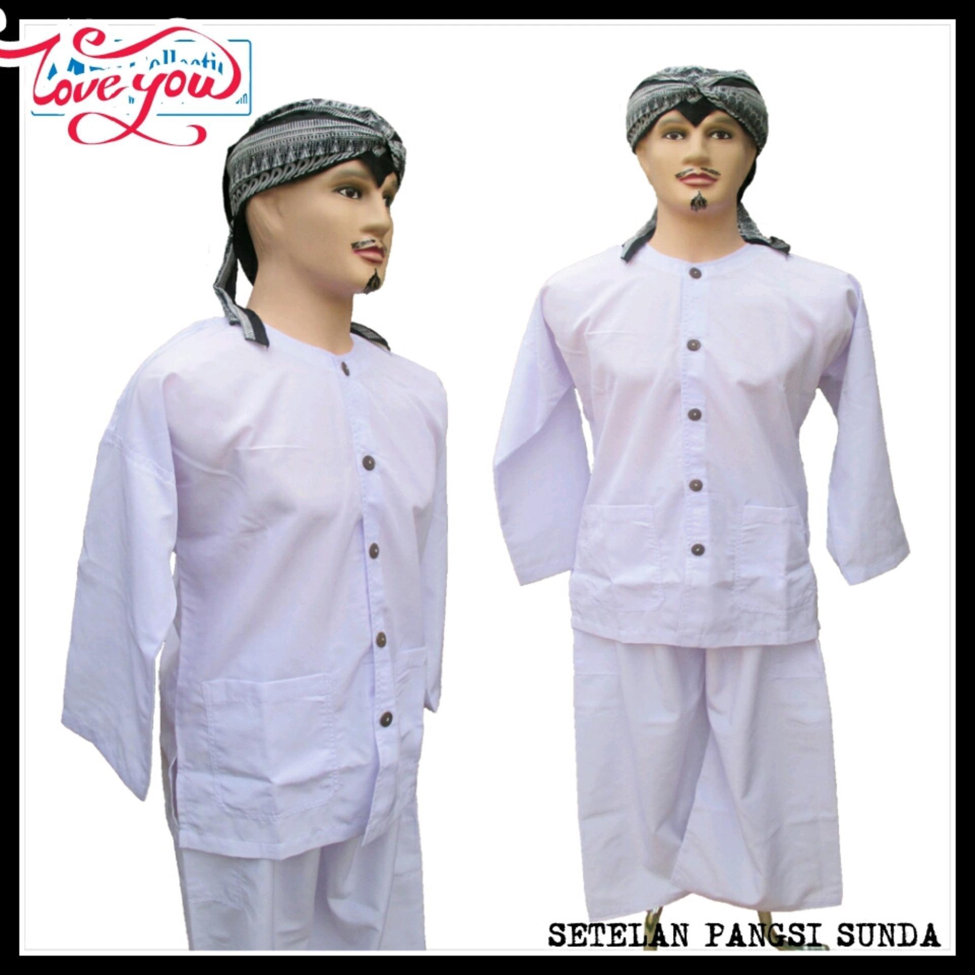 Baju Dan Celana Adat Pangsi pputih polos
