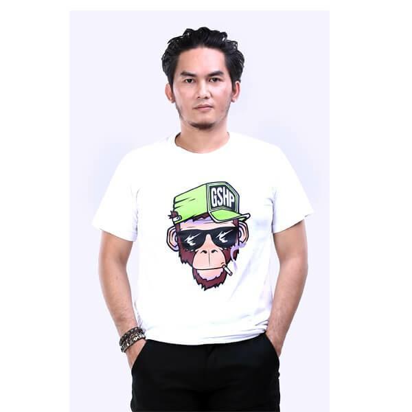 G-shop Kaos Distro Bandung Pria Putih - AMD 0454