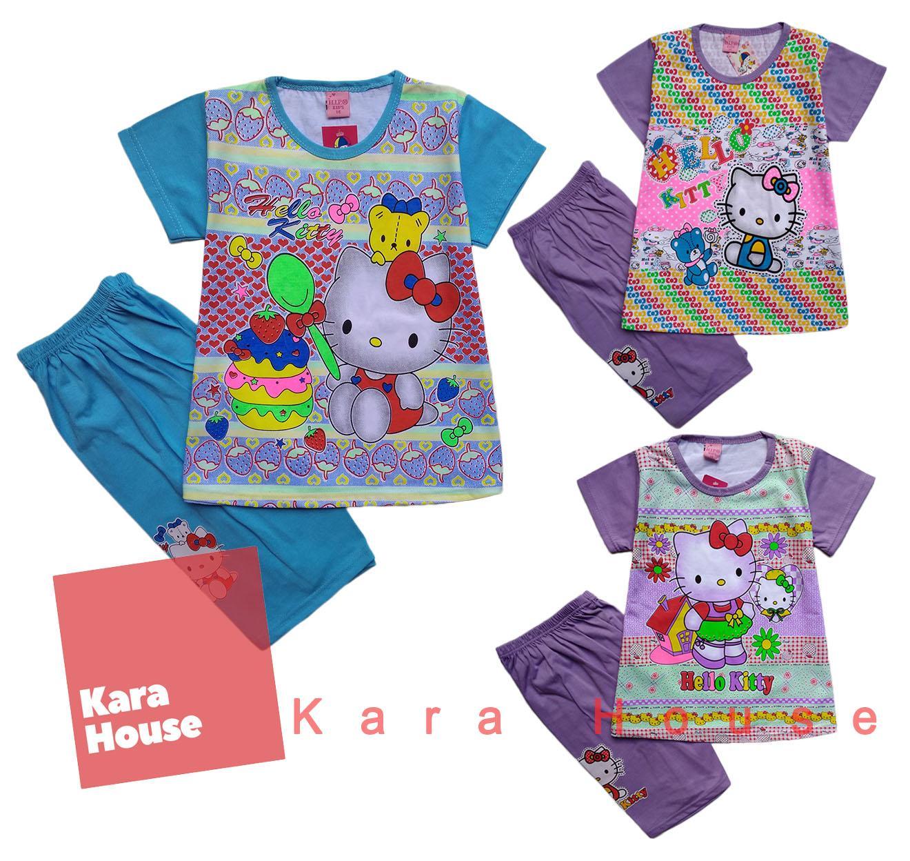 Segini Daftar Harga Baju Setelan Hello Kitty Murah Terbaru 2018 Katalog Hellokitty Kaos Atasan T Shirt Anak