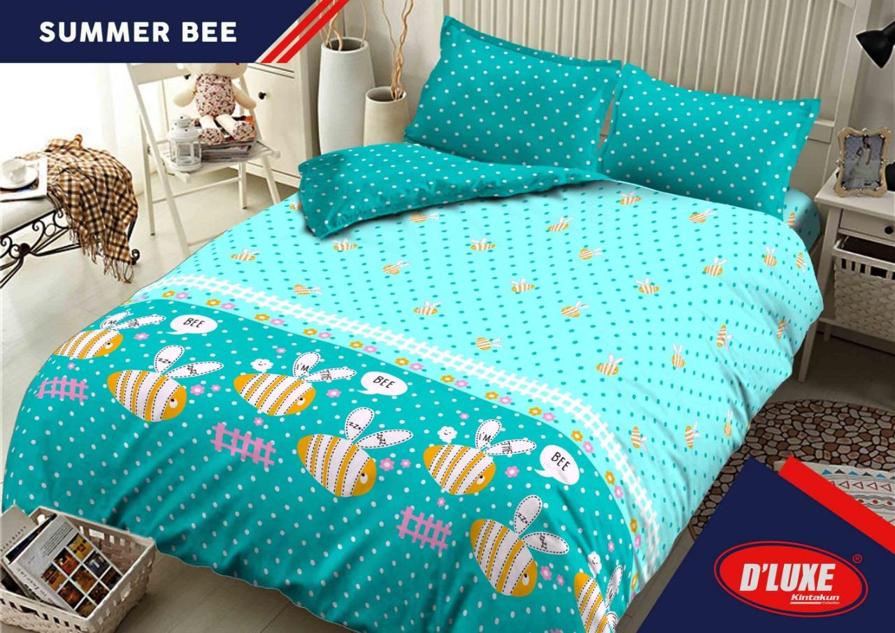 Sprei Bed Cover Kintakun Terbaru Dluxe 180 X 200 B4 King Cerish Kids Edition Uk 180x200 Summer Bee