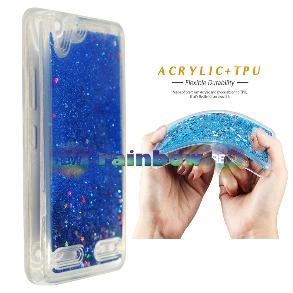Rainbow Case Water Glitter Lenovo Vibe K5 Plus Biru / Sparkle Case Liquid Lenovo K5+ / Soft Case Aquarium Lenovo Vibe K5+ / Case Blink Blink / Glitter Case / Sparkly Case Unik / Bumper Silikon Case / Jelly Case Hp / Casing Lenovo K5 Plus - Dark Blue