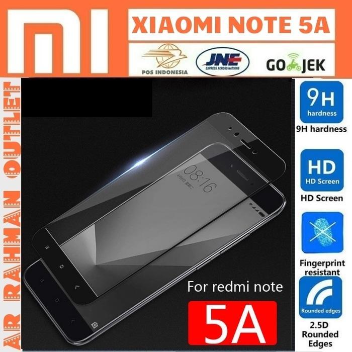 Xiaomi redmi NOTE5A NOTE 5A biasa tempered glass color warna layar hp