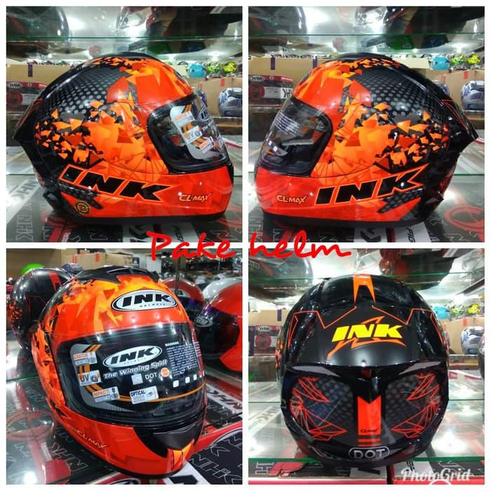 HELM INK CL MAX #6 BLACK RED FLUO FULL FACE